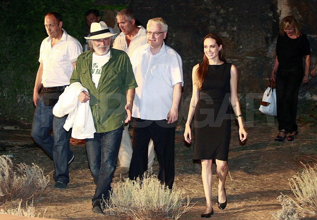 Angelina Jolie in Croatia.