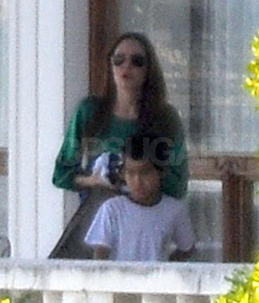 Angelina Jolie and Maddox in Scotland.