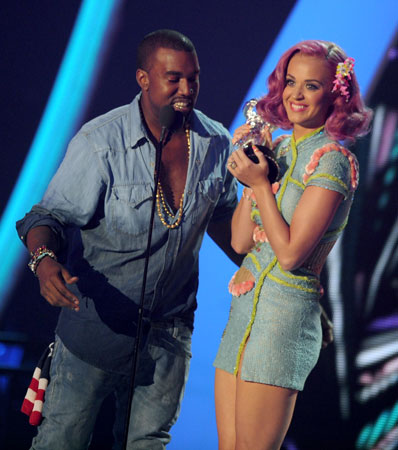 Kanye West and Katy Perry took home the astronaut for best collaboration.
