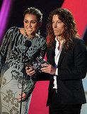 Miley Cyrus and Shaun White at the 2011 MTV VMAs.