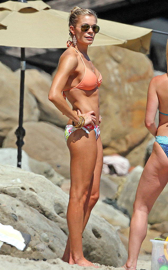 LeAnn's been building up a golden base tan.