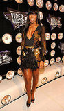 Kelly Rowland rocked a sexy black and gold number.