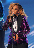 Beyoncé's baby bump at the 2011 MTV VMAs.