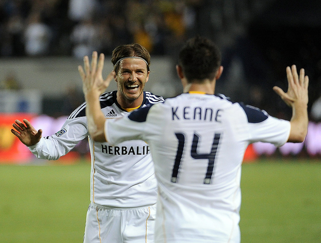 David Beckham and Robbie Keane in LA.