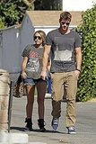 Miley Cyrus wore a vintage t-shirt for her day date with Liam Hemsworth.