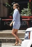 Natalie Portman running errands in NYC.