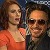 Scarlett Johansson and Robert Downey Jr. at the Disney D23 Expo