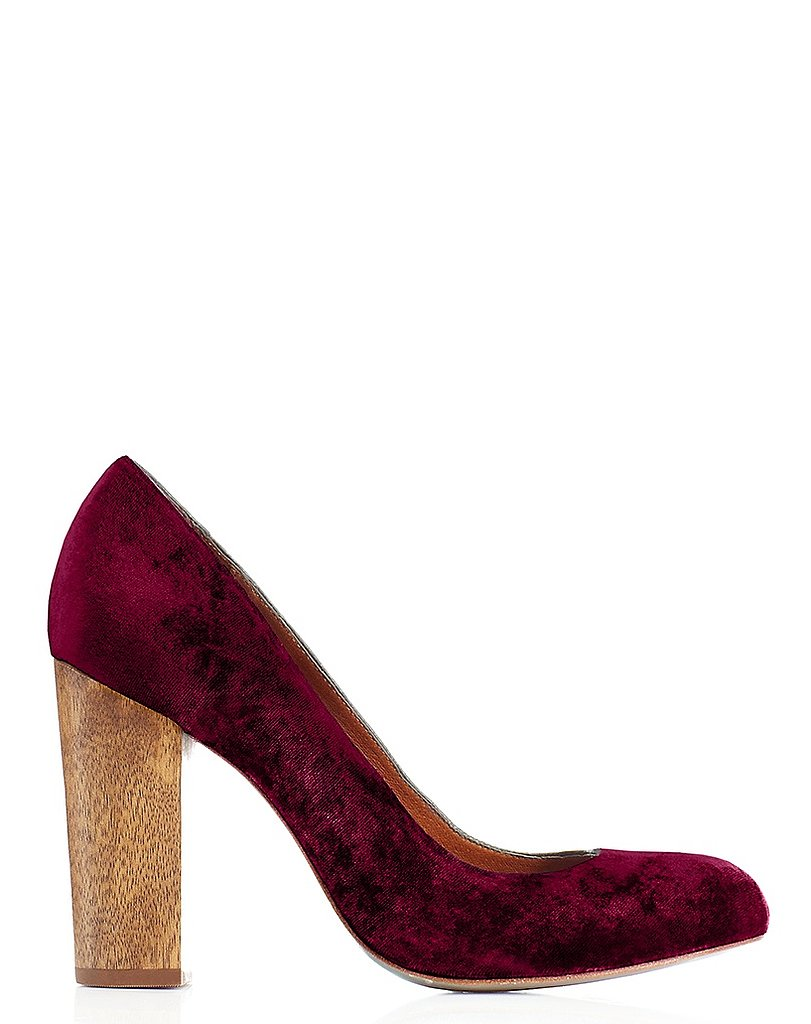 Juicy Couture Rosa Velvet Heels ($225)