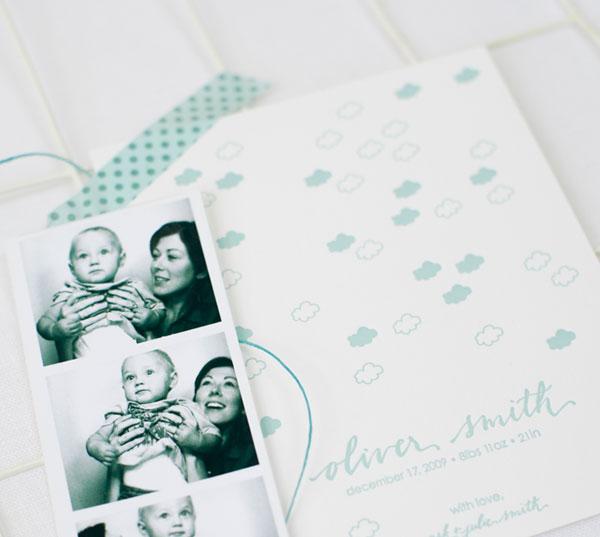 Simply Stunning Letterpress Birth Announcement