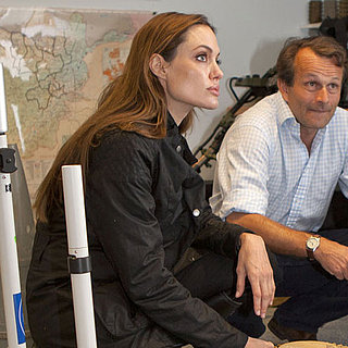Pictures of Angelina Jolie at Halo Trust in Scotland