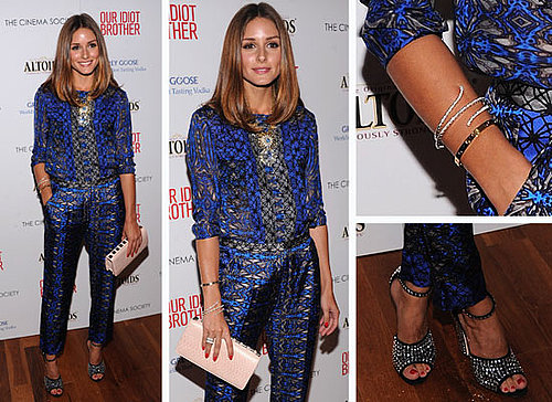 Pictures of Olivia Palermo at the Our Idiot Brother New York Premiere: See her Printed Suit Ensemble Up Close!
