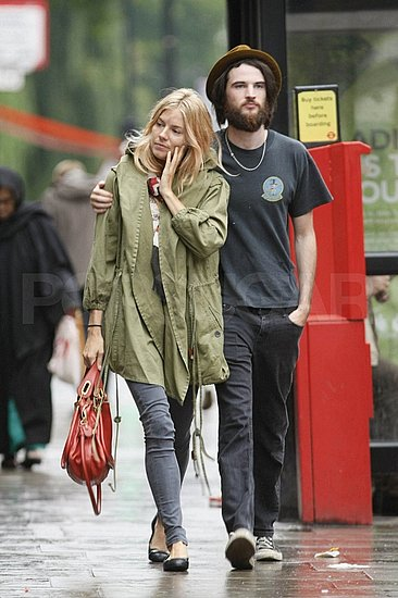 Sienna Miller and Her Very Hairy Man Tom Sturridge Spice Things Up For Their Lunch Date
