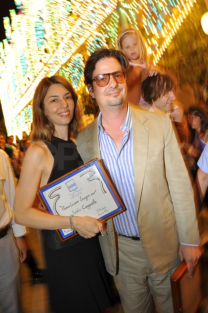 Sofia Coppola and Roman Coppola posed for a picture.