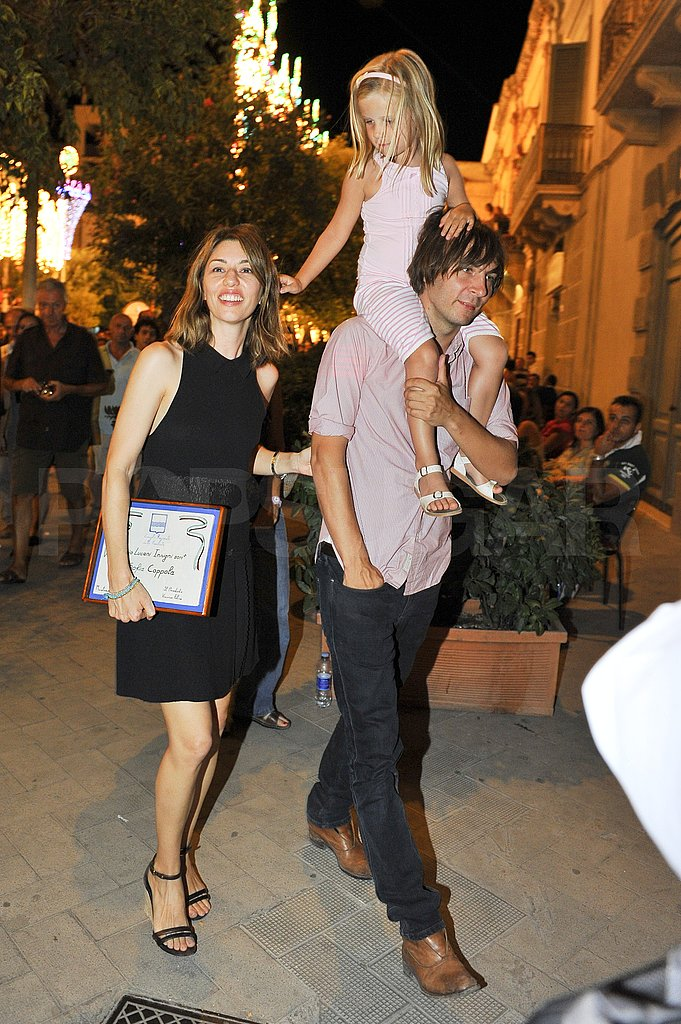 Romy Coppola had her parents Sofia Coppola and Thomas Mars close.