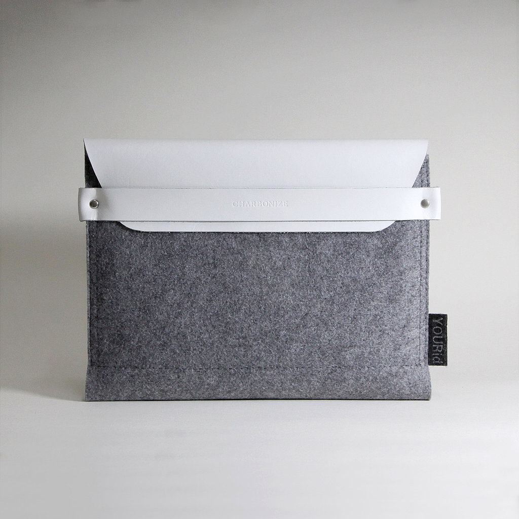White Leather and Gray Wool ($49)