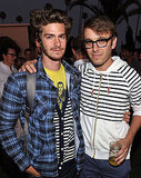 Andrew Garfield and Band of Outsiders creative director Scott Sternberg at an event in LA.