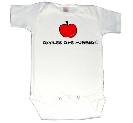 Though we don't want to encourage picky habits, recall the memorable scene of the eleventh  Doctor choosing fish sticks over apples in this onesie.