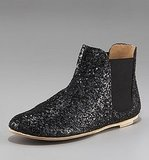 Pedro Garcia Slip-On Glitter Ankle Boot ($395)