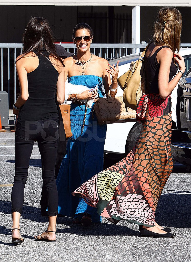 Alessandra Ambrosio with friends in LA.