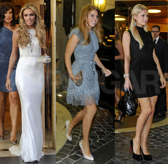 Petra Ecclestone Dines With Princesses Beatrice and Eugenie, Fergie, and the Hiltons Prior to Her Lavish Wedding