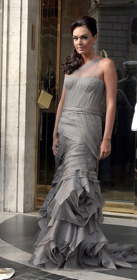 The bride's sister, Tamara Ecclestone, wore a gray gown.