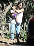 Sandra Bullock and Louis Bullock out and about in LA.