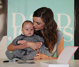 Miranda Kerr with a young fan.