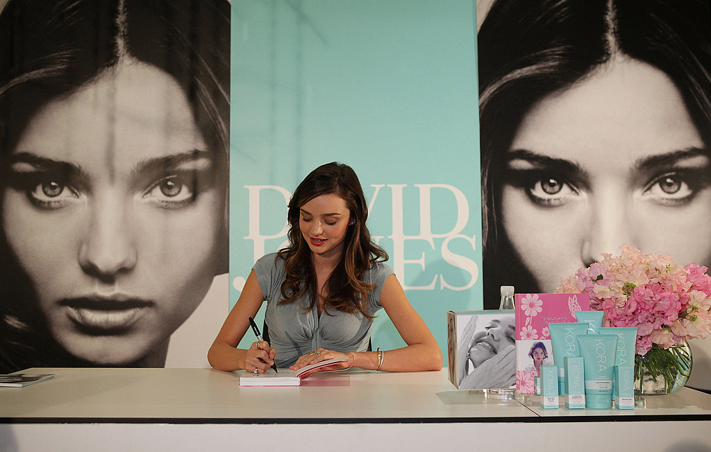 Miranda Kerr at a Kora Organics event.