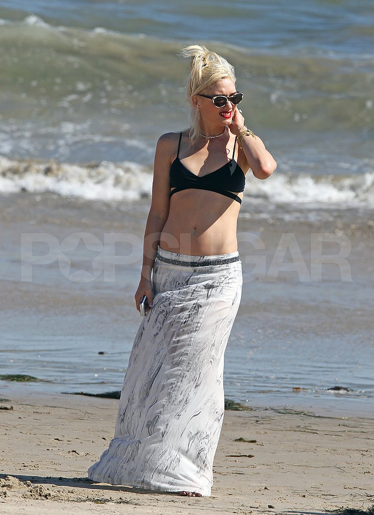 Gwen Stefani at the beach.