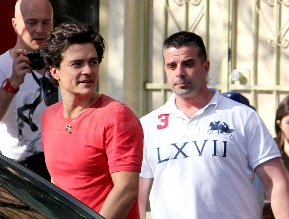 Orlando Bloom out in Sydney.