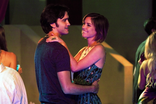 Michael Steger as Navid and Jessica Stroup as Silver on 90210.  Photo courtesy of The CW