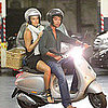 Bar Refaeli in Portofino Riding a Motorcycle Pictures