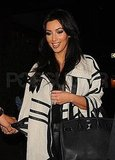 Kim Kardashian with black Hermés bag in NYC.