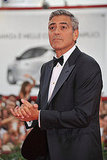 George Clooney premieres The Ides of March at the Venice Film Festival.