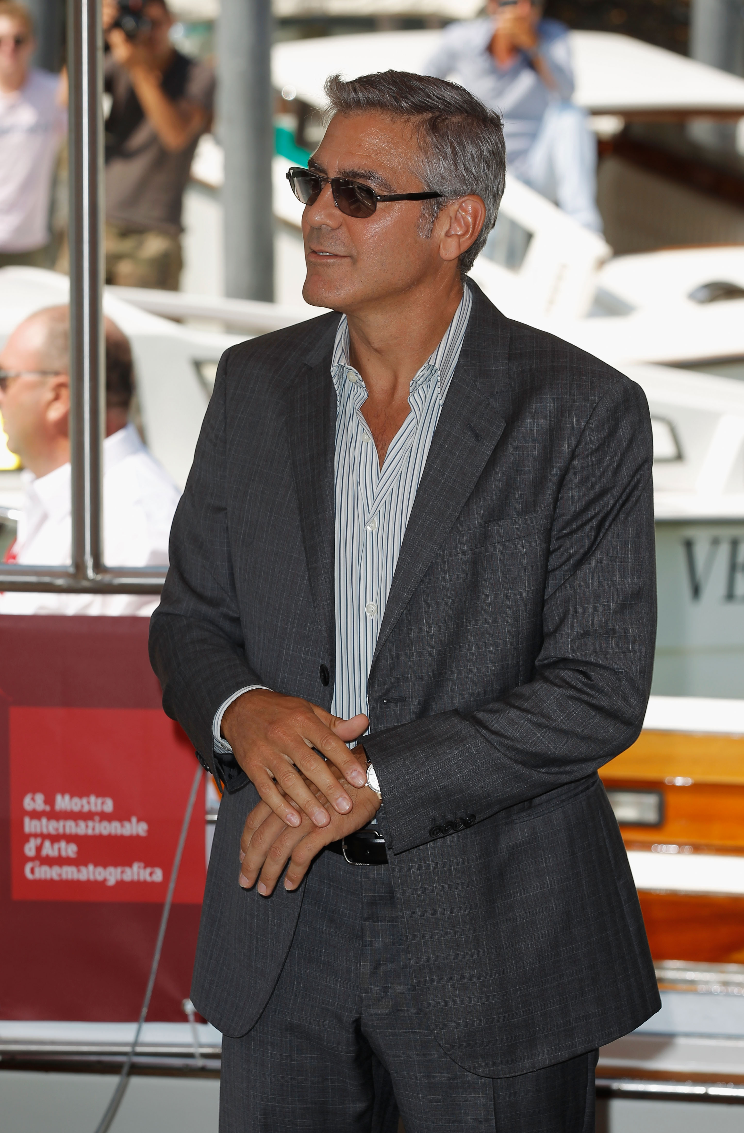 George clooney looked handsome in his suit gwyneth keira kate