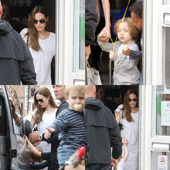 Angelina Jolie Has a Pottery Play Date With Knox, Vivienne, and Zahara