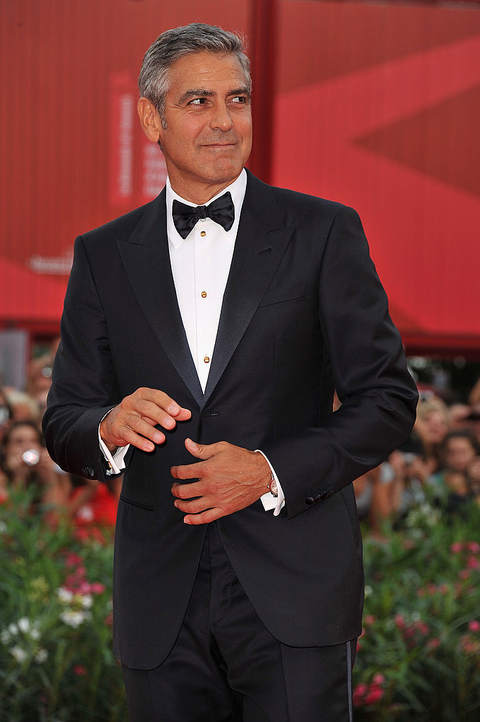 George Clooney in a tux at the Venice Film Festival.