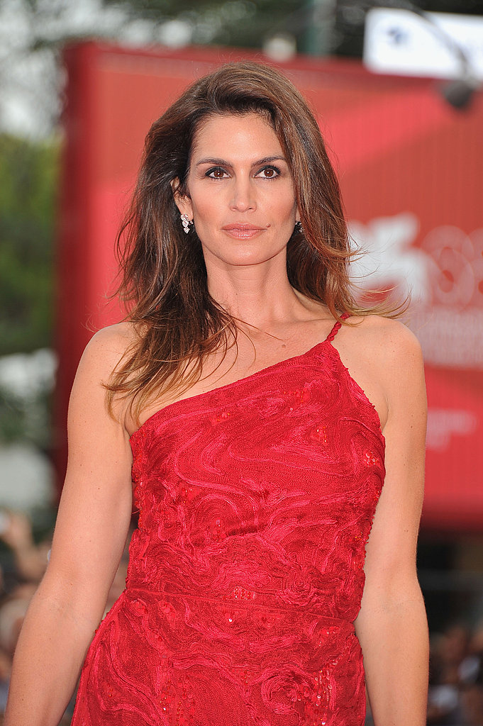 Cindy Crawford at The Ides of March premiere in Venice.