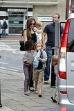 Angelina Jolie with kids Zahara, Shiloh, Vivienne and Knox.