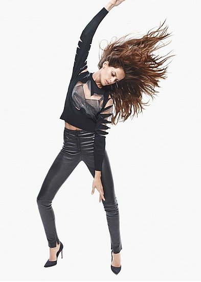 Izabel Goulart in Mugler and Gianvito Rossi
