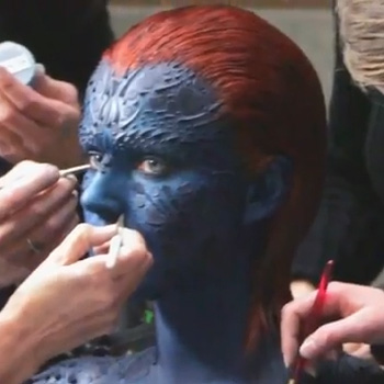 Jennifer Lawrence Makeup in X-Men: First Class
