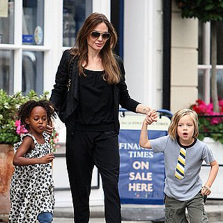 Angelina Jolie Pictures Shopping With Shiloh and Zahara