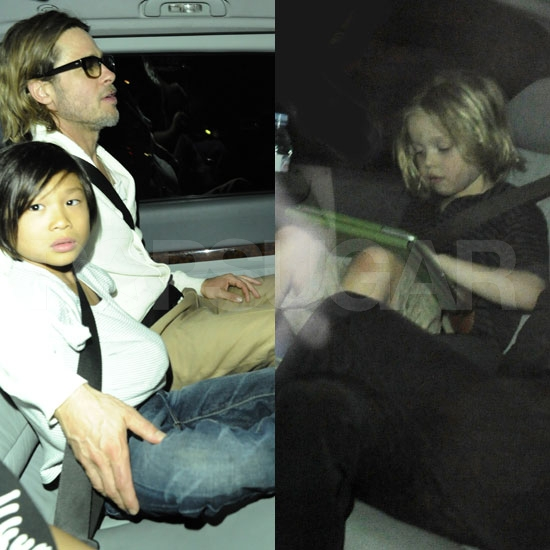 Brad Pitt and Angelina Jolie Do Dinner at London's Benihana With the Kids