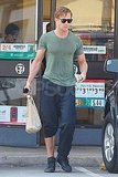 Ryan Gosling leaving 7 Eleven in LA.