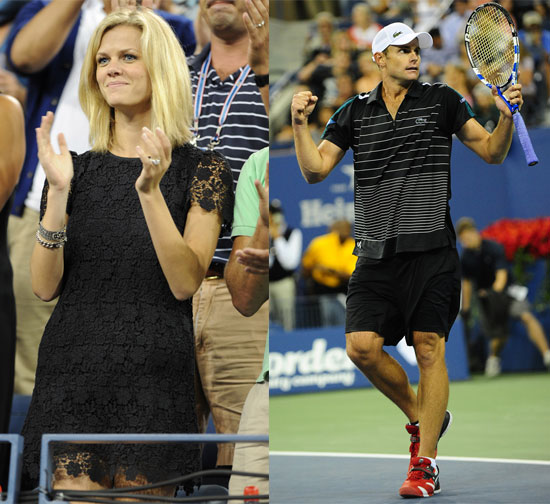 Brooklyn Decker Cheers On Andy Roddick During the US Open