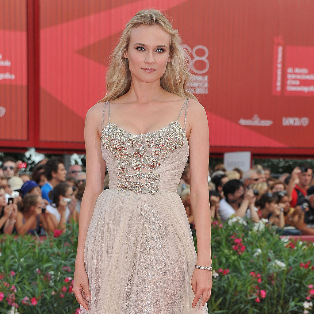 Diane Kruger glowed in a soft tulle Elie Saab gown.