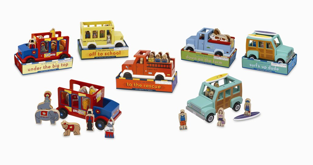Jack Rabbit Creations Wooden Transportation Toys ($30)