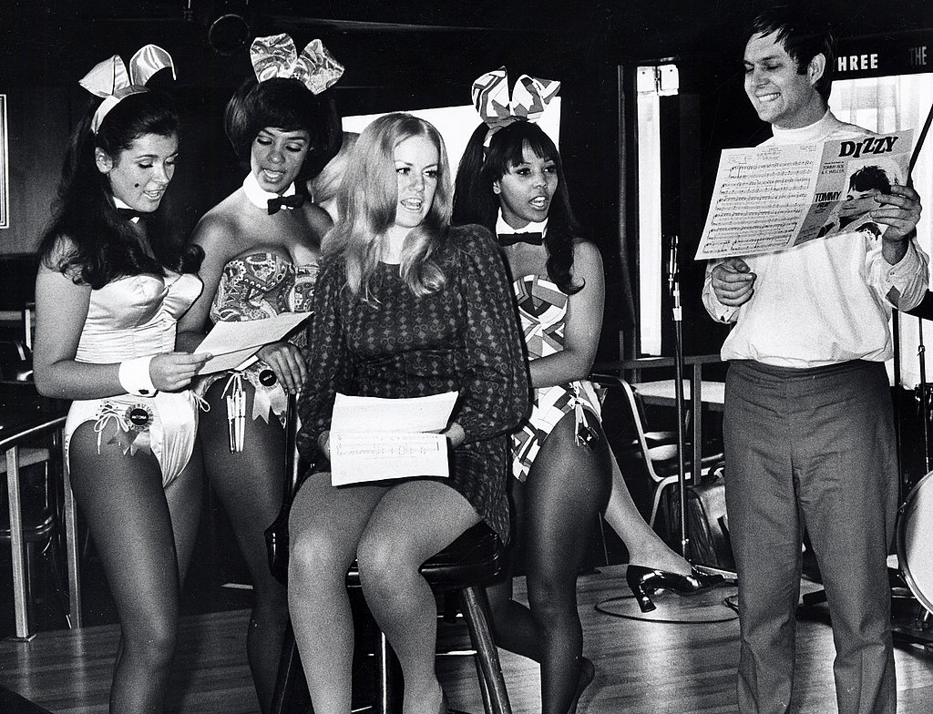 Bunnies prep for a pictorial in 1969.