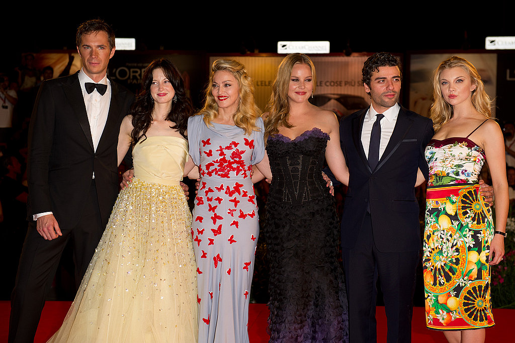 Madonna and the W.E. cast at the Venice Film Festival.