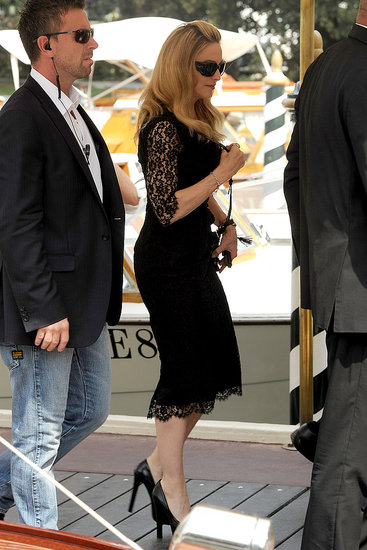 Madonna arrives at the Venice Film Festival.